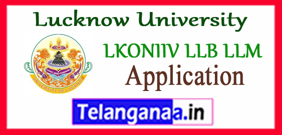 Lucknow University LLB LLM Application 2018 LKOUNIV Admission