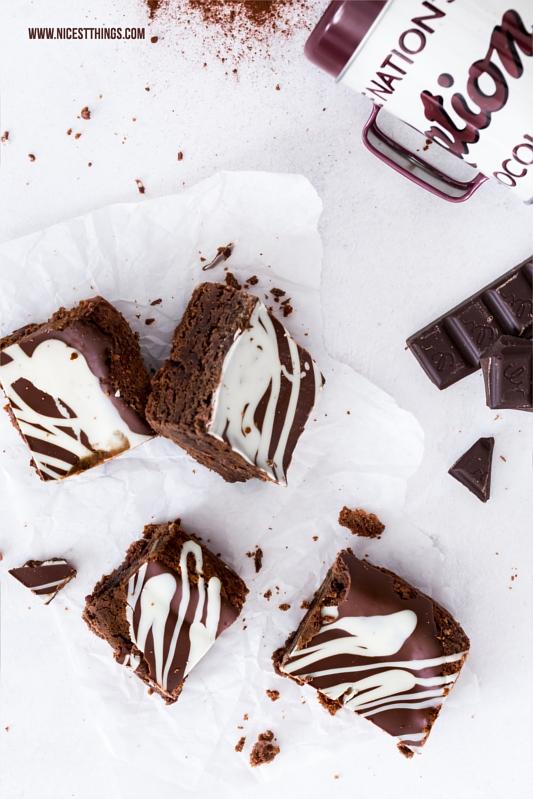 Rezept für saftige Double Chocolate Brownies