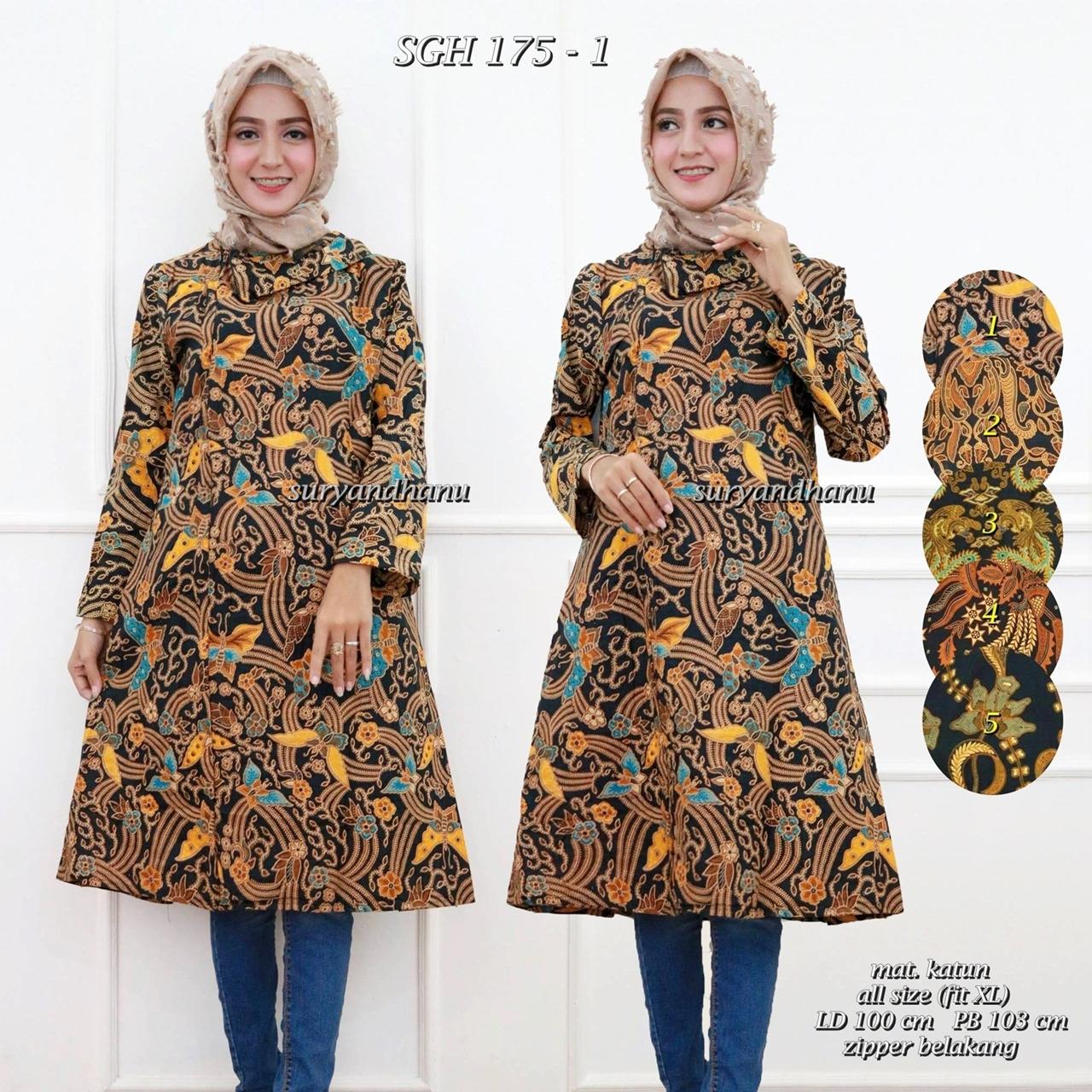 47 Terkini Model Baju Batik Qonita Terbaru
