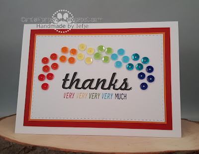 thank you card stampin' up