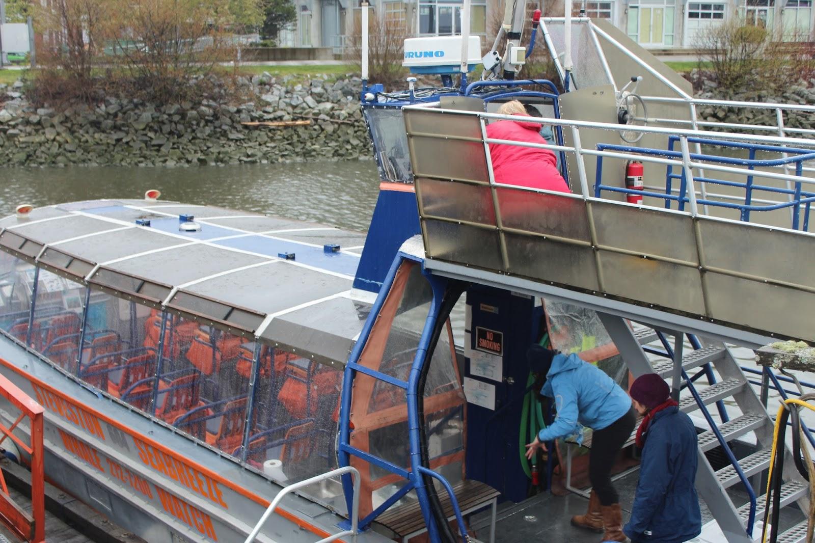 dad59bc79d Innen kihajóztunk a nyílt vízre, átmentünk a Vancouver sziget melletti  szigetek közé. Ezen az egy órás hajóúton, miközben a túlélésért küzdöttem,  ...