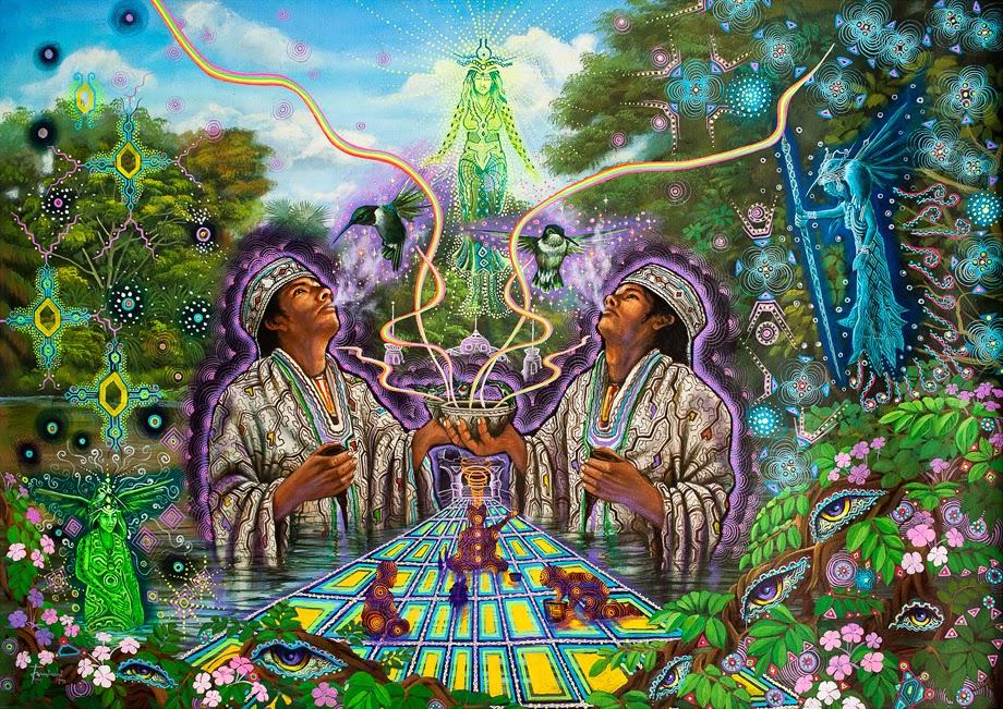 Ayahuasca-Inspired Art by Juan Carlos Taminchi