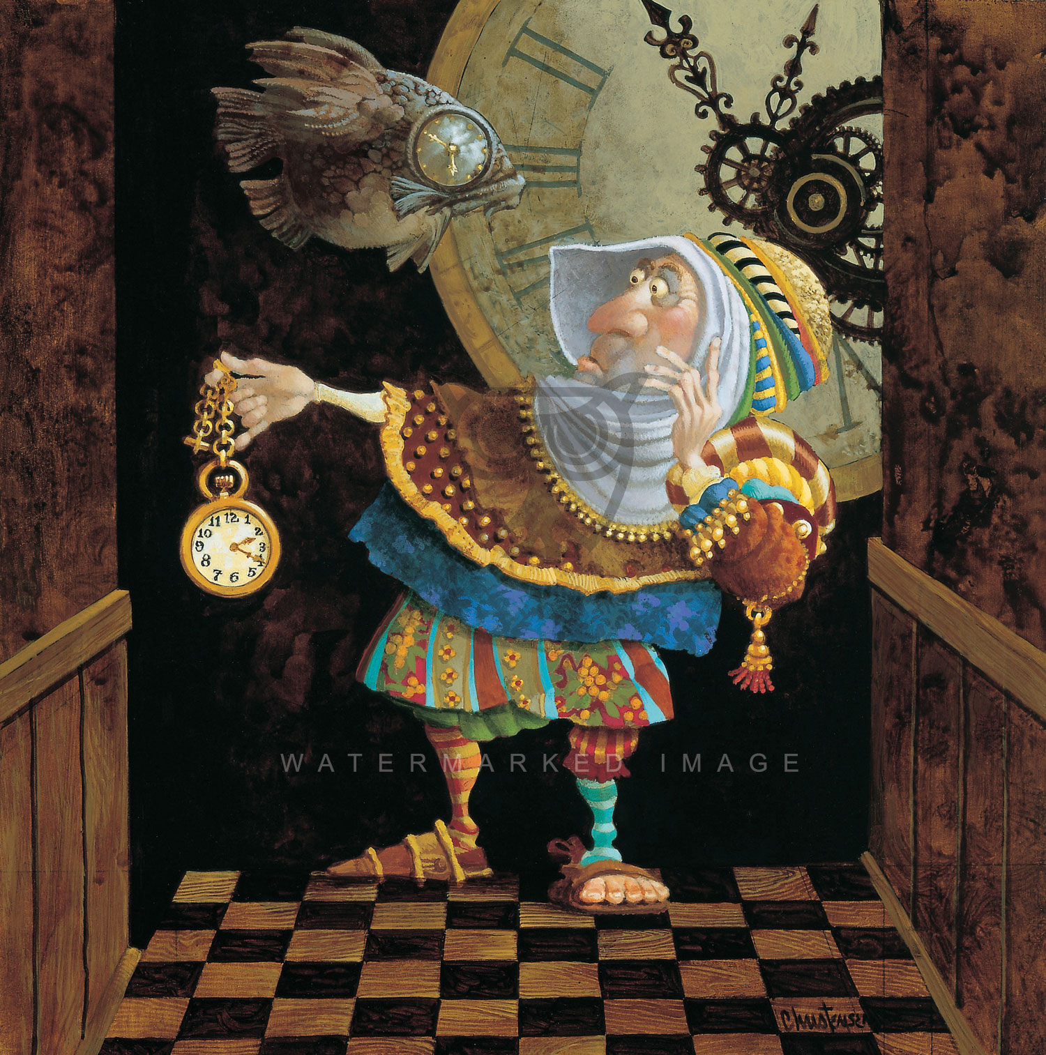 Art After Dark New James Christensen Art Tempus Fugit