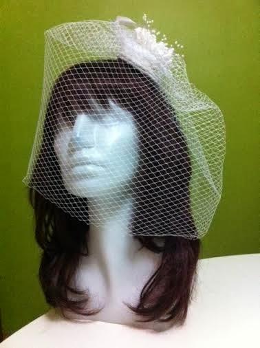 beyaz nikah şapkası vualet kafes tül