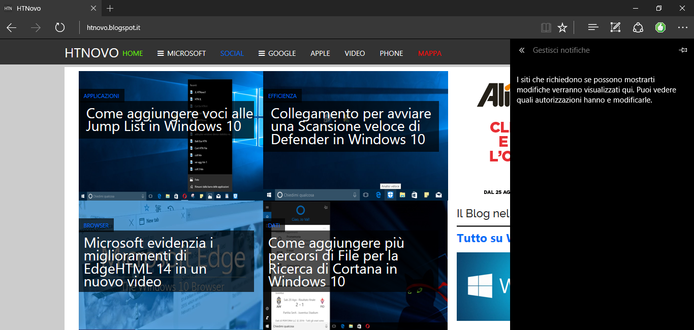 Bug di Edge fissato da Microsoft dopo individuazione e segnalazione di Jo Val (HTNovo) HTN