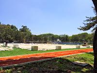 Pista de corrida e caminhada no Centro Esportivo Tietê