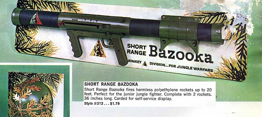 1960s short range Bazooka toy