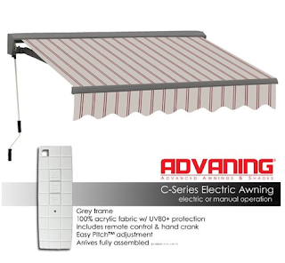 ADVANING Electric Classic C Series Shade Patio Retractable Awning, Retractable Shades, Retractable Outdoor Shades, Outdoor Shades,Decorating Outdoor Space, Outdoor Space, Outdoor Space Decorating Tips, Outdoor Furniture, Patio Furniture, ,