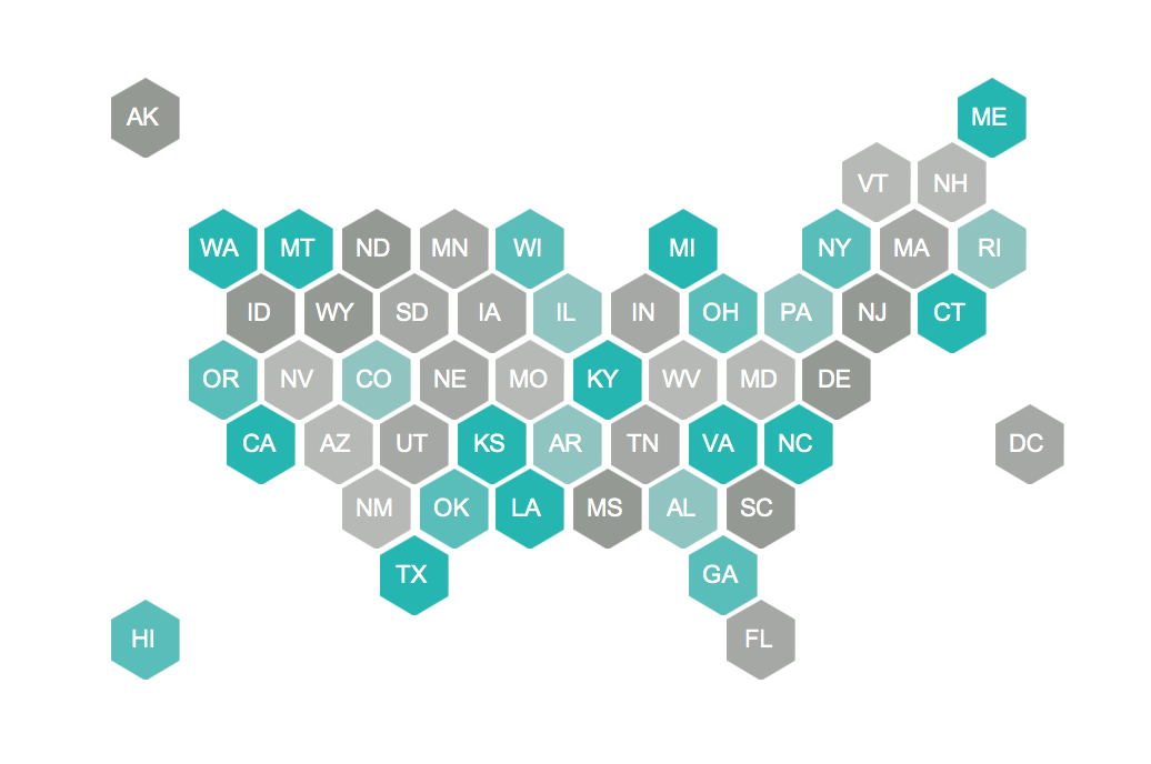 How To: Hex Tile Maps in Tableau | Sir Viz-a-Lot