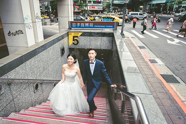 台北自助婚紗情侶寫真攝影工作室忠孝復興捷運站