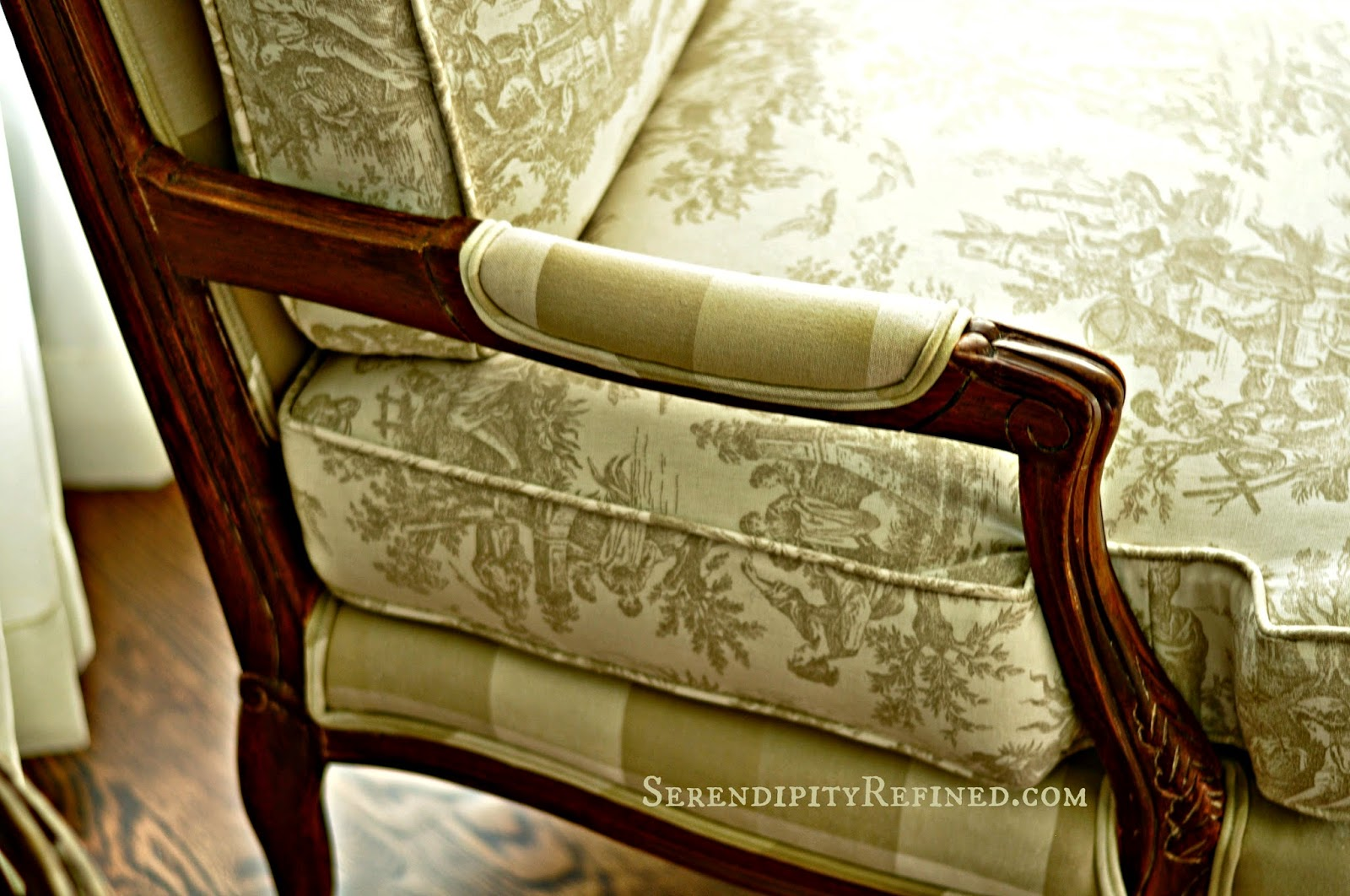 buffalo plaid chair outdoor bistro table and chairs serendipity refined blog milk paint quotstained quot french