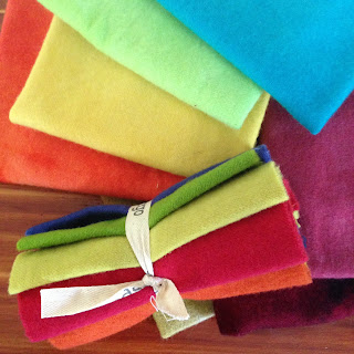 felted wool fabric collection