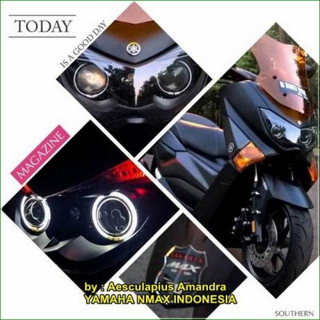 Bagian Lampu Depan Dan Belakang Cara Modifikasi Yamaha Nmax Hitam Doff Tampak Kekar Dan Sangar Terbaru Keren banget