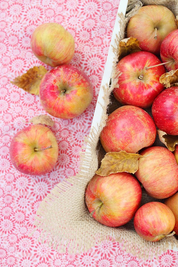 a box of apples for autumn