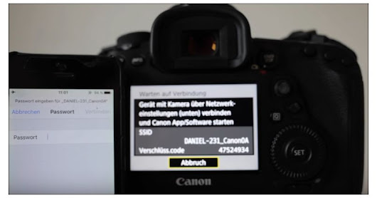 Canon EOS 5D Mark IV Connecting to Smartphone