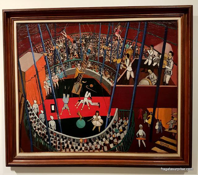 O Circo, de Djanira, no Museu Nacional de Belas Artes