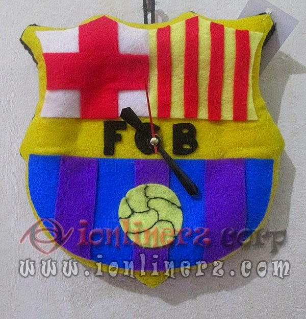Jam Dinding Flanel Club Sepak Bola Barcelona (Barca)