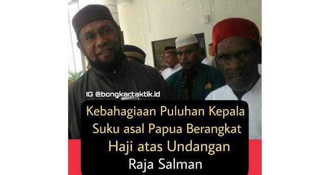 30 Kepala Suku Papua Naik Haji Atas Undangan Raja Salman, Buah Dakwah Tak Kenal Lelah Ustadz Fadlan Garamatan