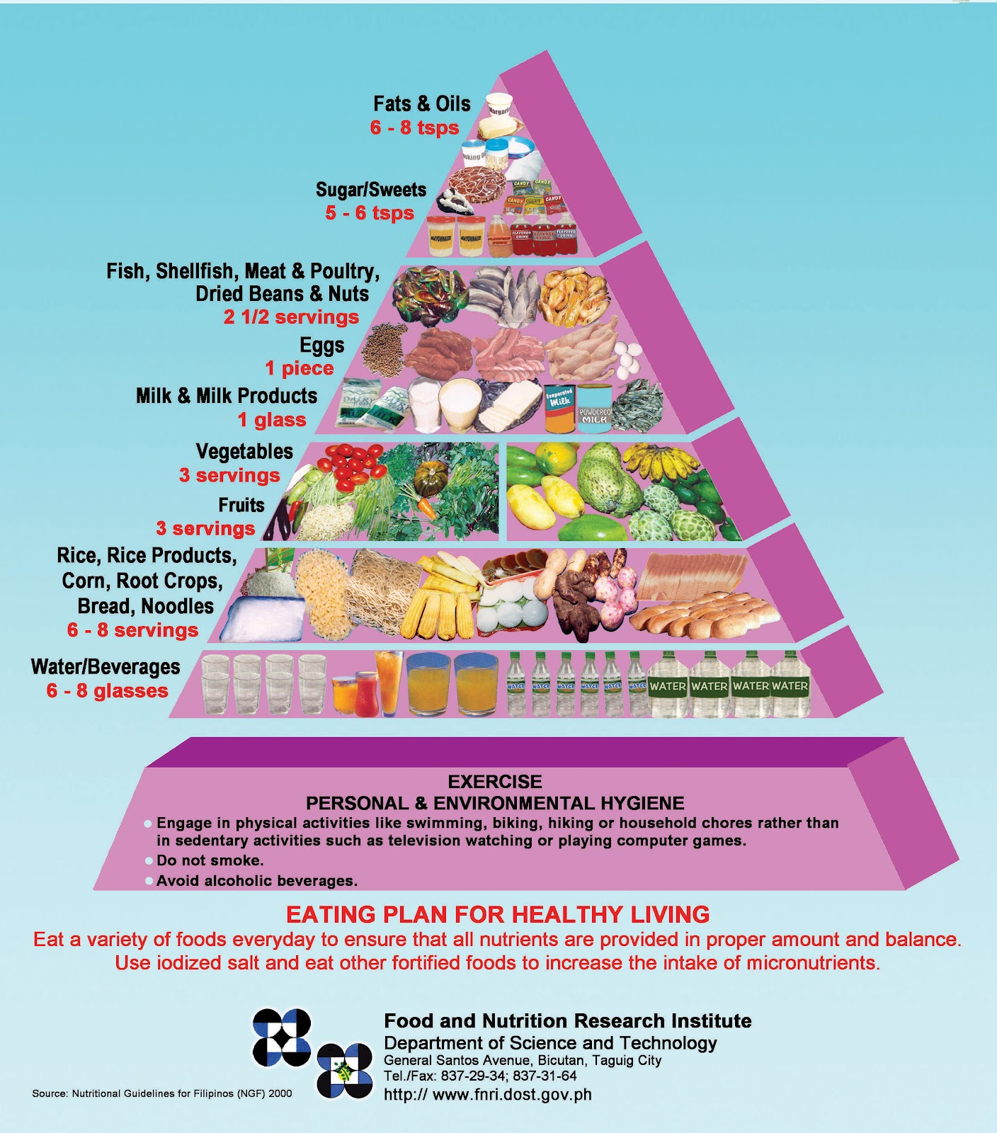 Health And Fitness For Busy People Food Pyramid For Teens