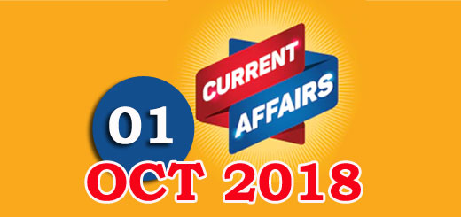 Kerala PSC Daily Malayalam Current Affairs 01 Oct 2018