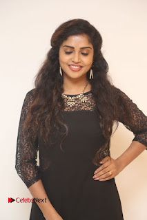 Karunya Stills in Black Long Dress at Dharma Yogi Audio Launch