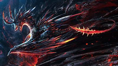 Papel de Parede Fantasia Dragão de Fogo