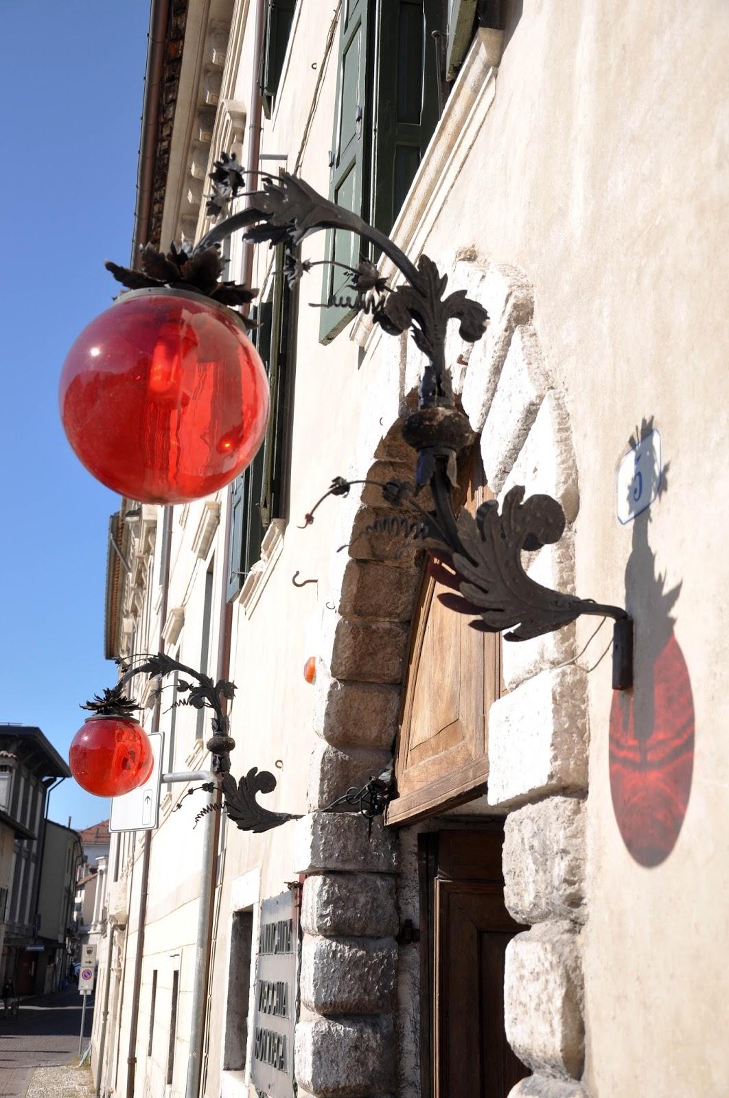 Street Lights, Feltre, Veneto, Italy