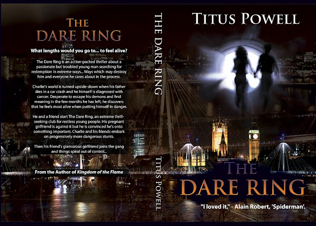 """The Dare Ring"" author: Titus Powell, cover designer: Kura Carpenter"