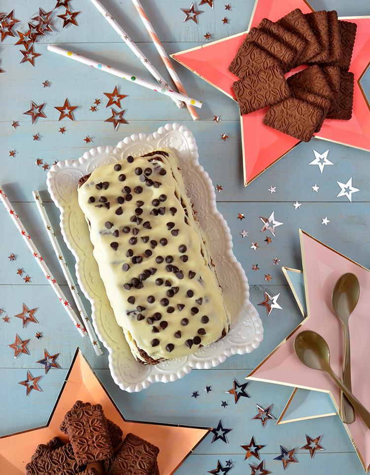 Postre Chocolinas y chocolate blanco