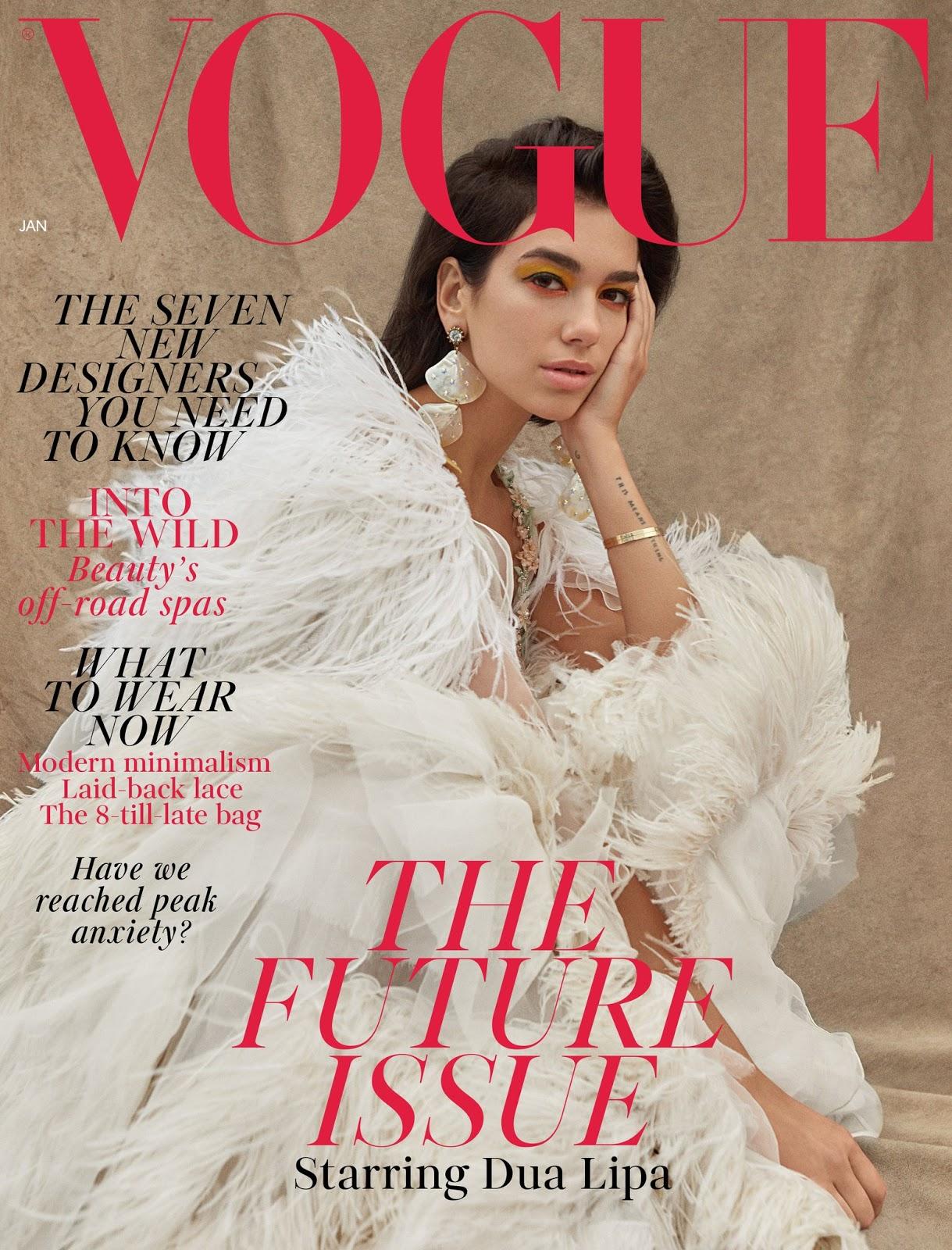 Dua Lipa for Vogue UK January 2019