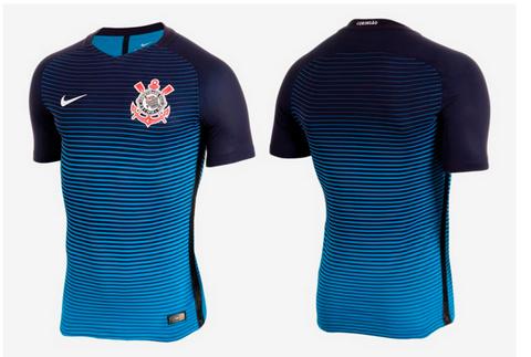 22b1817ffe El Cor 2016 17 Nike tercera camisetas tiene todos los manguitos de color  azul oscuro que siguen a su superior de la espalda. La parte trasera del  cuello es ...