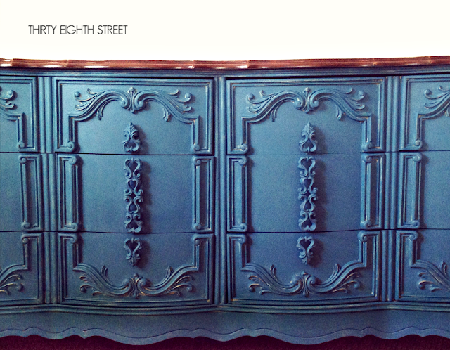 chalk paint, annie sloan, ascp, painted dresser, turquoise dresser, before and after, furniture makeover