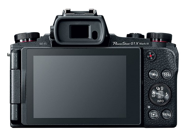 Canon PowerShot G1 X Mark III, вид сзади