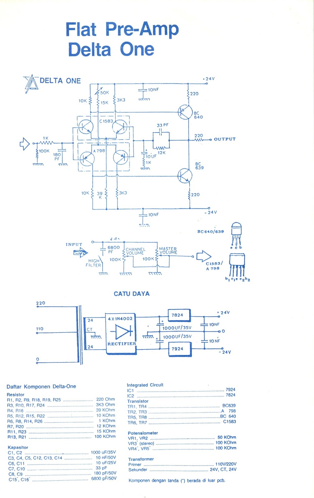 Class Ab Amplifier Skema My Colections T 60 Watts Audio Circuit Using Tda7296 Next Schematic Is Flat Pre Amp I Not Quite Sure The Result But Dont Think This Better Than Only A Potentiometer For Passive