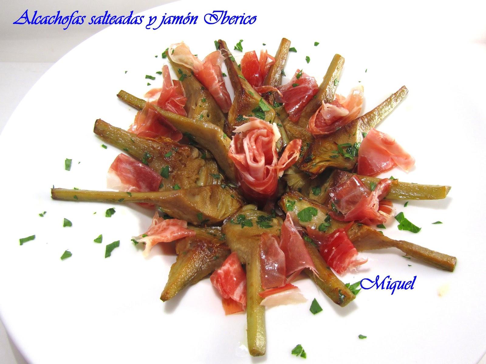 Les receptes del miquel alcachofas salteadas con jam n - Platos con jamon iberico ...