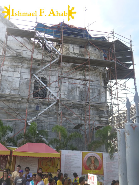 Minor Basilica of the Santo Niño in Cebu City ruined by Bohol Earthquake
