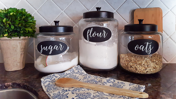 canister labels & DIY Labels for Kitchen Canisters | DIY beautify