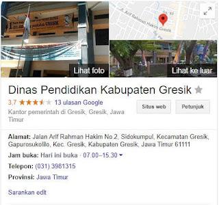 Cabdin Gresik Blog Informasi PTK Dan Data Lembaga Sekolah