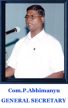 Image result for BSNLEU ABHIMANYU IMAGE