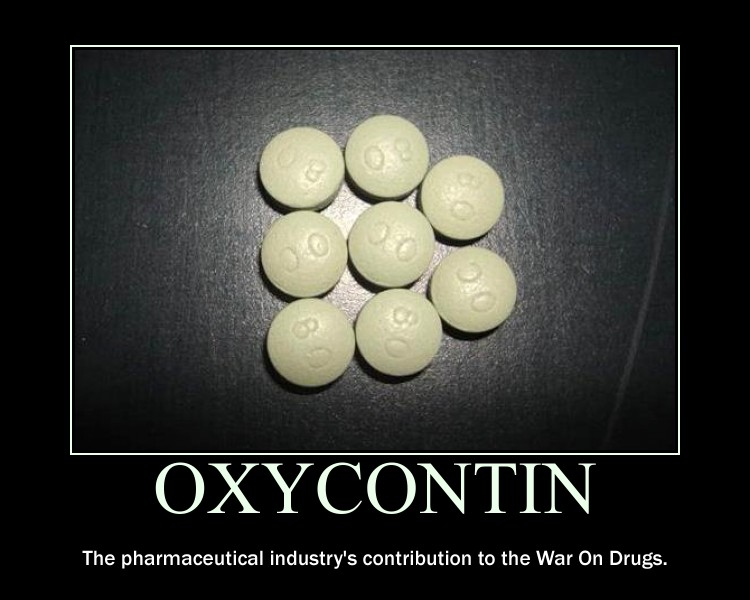 OXYCONTIN The Pharmaceutical Industry's Contribution To The War On Drugs - Image Copyright BlogSpot.Com