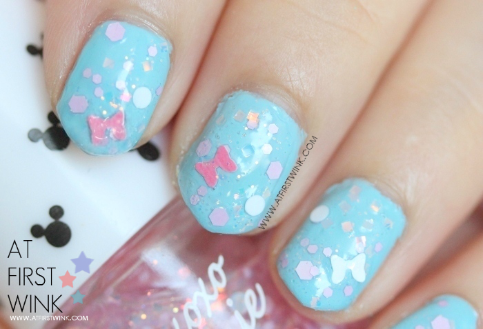 Etude House xoxo Minnie nail polish 04 - Minnie Pink Ribbon close up