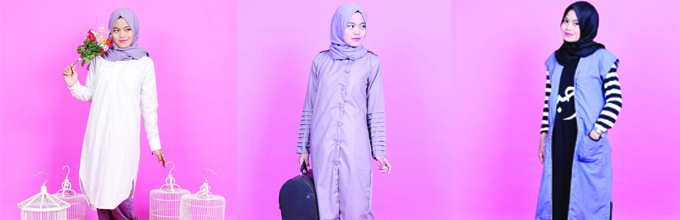 Outer, Tunic, Hijab