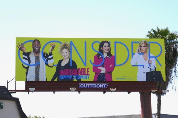 Consider Kimmy Schmidt season 4 Emmy FYC billboard