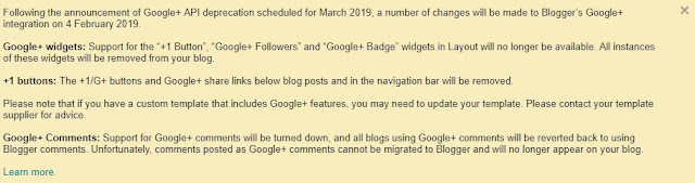 Blogger Notification for Google Plus