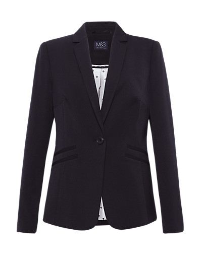 Marks and Spencer Notch Lapel Double Welt Pockets Jacket