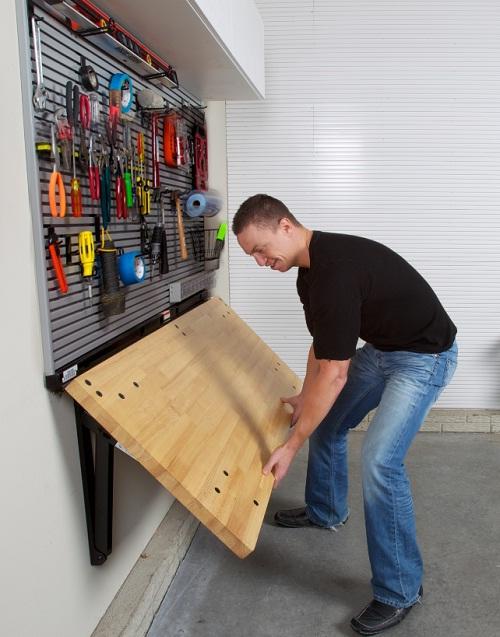 Woodwork Folding Workbench Garage Pdf Plans