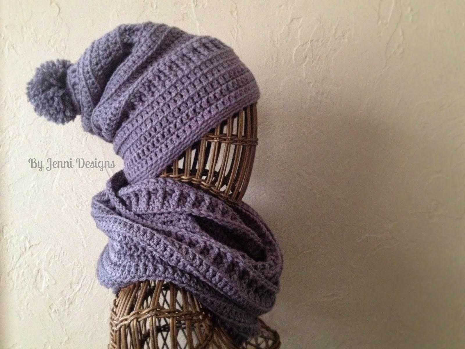 cf29f8b56db By Jenni Designs  Free Crochet Pattern  Textured Infinity Scarf