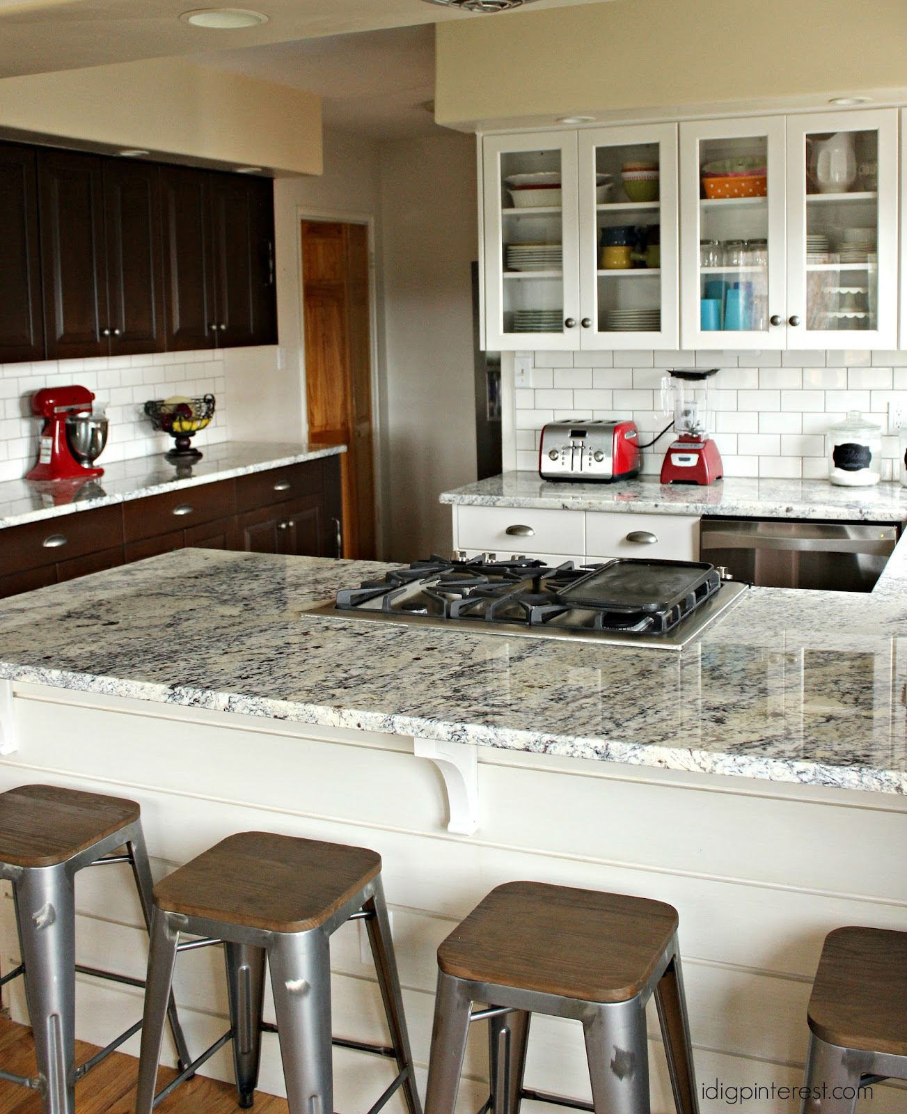White Ice Granite Kitchen White And Walnut Kitchen Reveal A Remodel That Will Rock Your