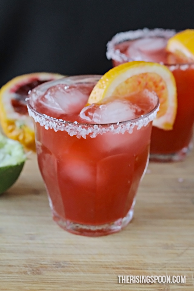 Blood Orange Margaritas Recipe | www.therisingspoon.com