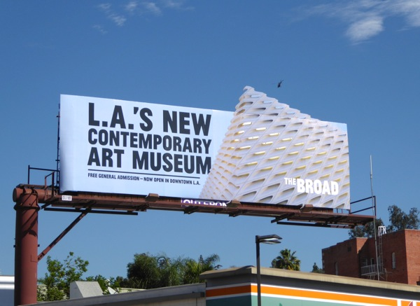 The Broad art museum billboard